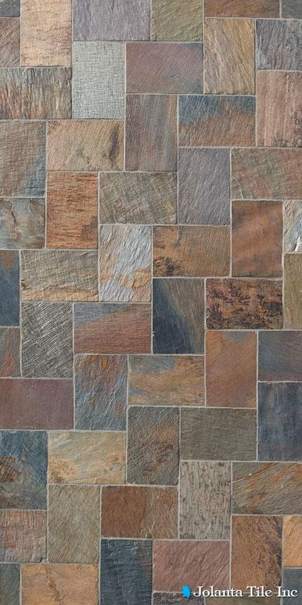 Himalayan Kashmir Slate - 8x8 slate tile